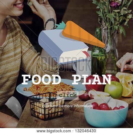 Food Plan Ingredients Menu Preparing Concept