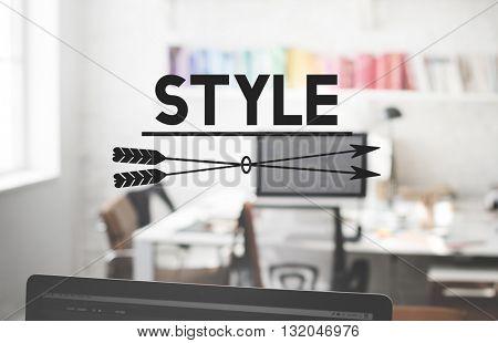 Style Character Design Elegant Interior Decorating Concept