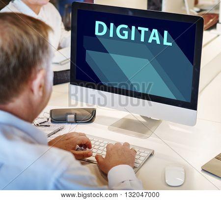 Digital Technology Electronic Internet Innovation Concept
