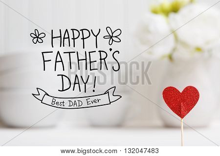 Fathers Day Message With Small Red Heart