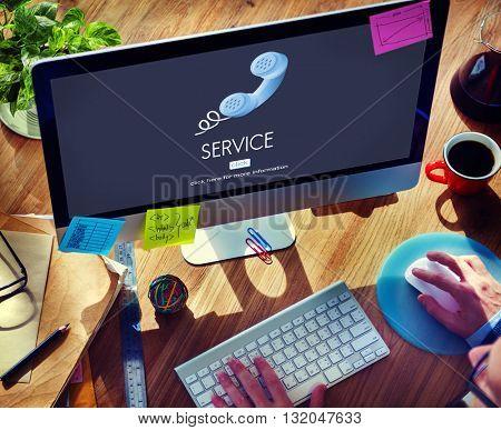 Support Service Information Help Desk Concept