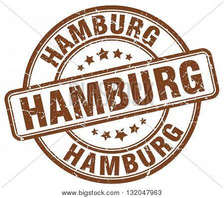 Hamburg brown grunge round vintage rubber stamp.Hamburg stamp.Hamburg round stamp.Hamburg grunge stamp.Hamburg.Hamburg vintage stamp.