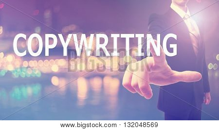 Copywiting Concept With Businessman