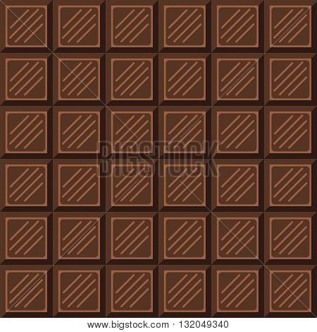 Chocolate bar seamless pattern. Milk natural chocolate square tiles texture.