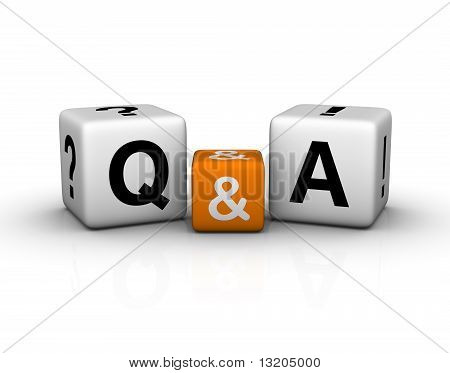 Question And Answers Cubes Symbol