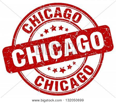 Chicago red grunge round vintage rubber stamp.Chicago stamp.Chicago round stamp.Chicago grunge stamp.Chicago.Chicago vintage stamp.