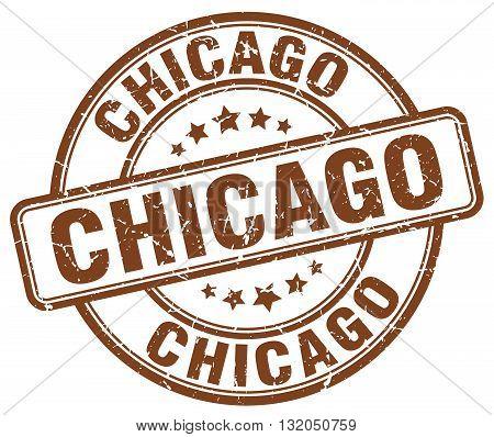 Chicago brown grunge round vintage rubber stamp.Chicago stamp.Chicago round stamp.Chicago grunge stamp.Chicago.Chicago vintage stamp.