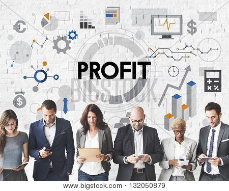 Profit Revenue Money Currency Business Concept