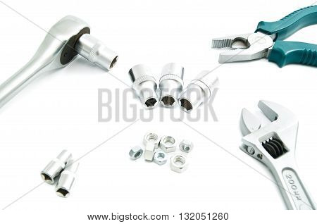Adjustable Wrench, Ratchet And Pliers