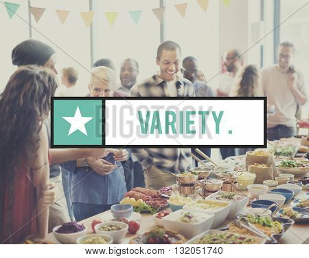 Variety Abundance Different Food Many Product Concept