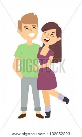 Couple in love vector illustration.
