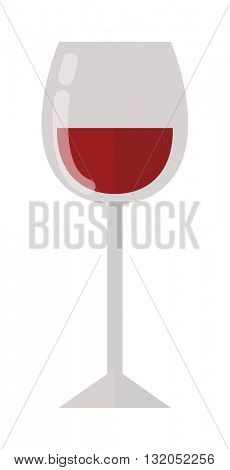 Glass of wine vector illustration.