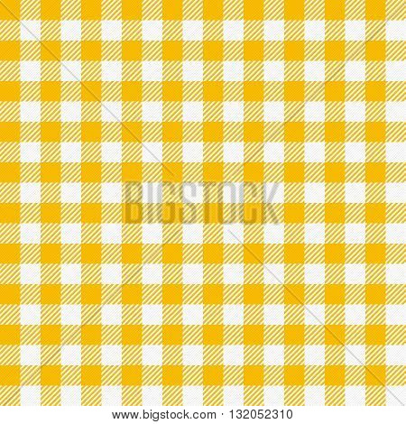 Seamless checkered tablecloth. Traditional gingham pattern, checkered fabric, tablecloth texture. Vector illustration.
