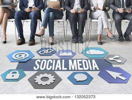 Social Media Technology Graphic Concept