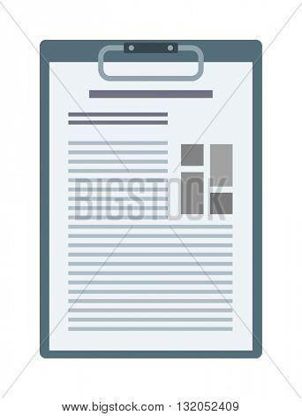 Clipboard document content checklist test vector illustration.