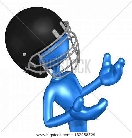 Football Character 3D Illustration