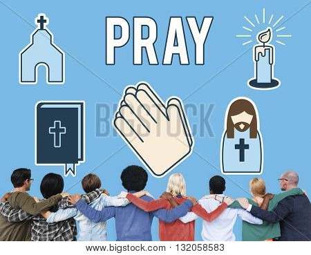 Pray Faith Prayer Praying Religion Spiritual God Concept