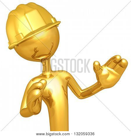 Construction Character 3D Illustration