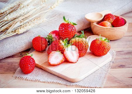 Strawberry natural healthy nutrition organic food .