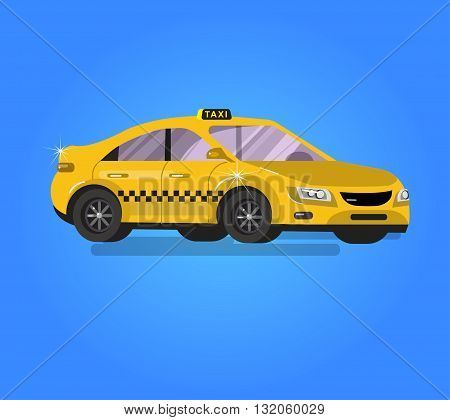 Vector detailed taxi hire service application, taxi creative infographics, taxi design on public taxi service, taxi application featuring yellow taxi. Vector taxi