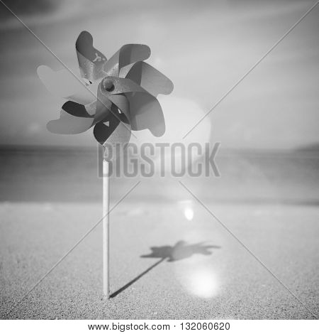 Pinwheels on the Beach Concept