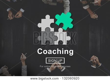 Coaching Teaching Mentoring Guide Concept
