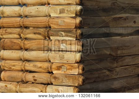 wooden legs for making bed at a flea market