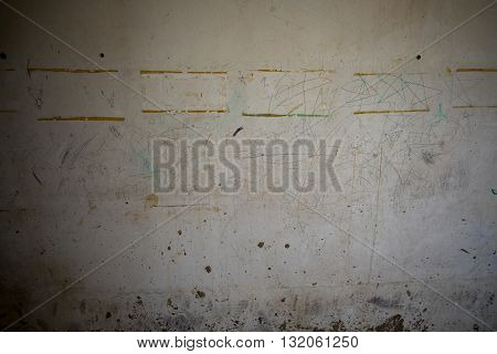 Closeup of peeling paint wall or background