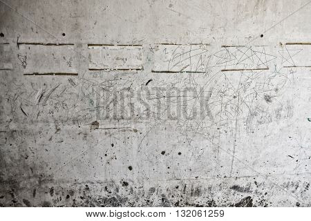 Closeup of peeling paint wall,  cement background