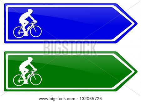cycle line direction signboard