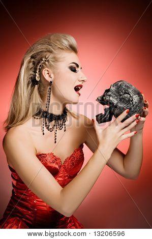 Bruxa com um scull