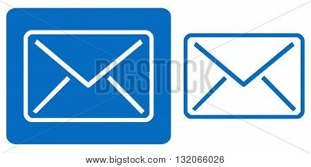 Blue Email Icon symbol envelope vector global