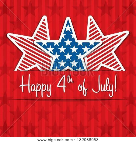 Happy 4th of july red white and blue background