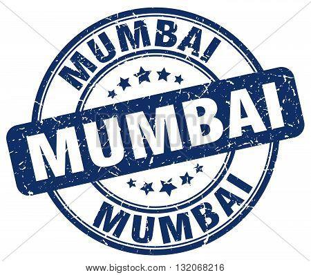 Mumbai blue grunge round vintage rubber stamp.Mumbai stamp.Mumbai round stamp.Mumbai grunge stamp.Mumbai.Mumbai vintage stamp.