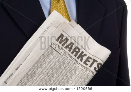 Business Man Carrying Newspaper
