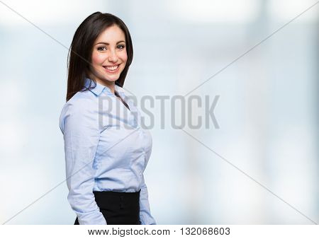 Portrait of a young smiling woman