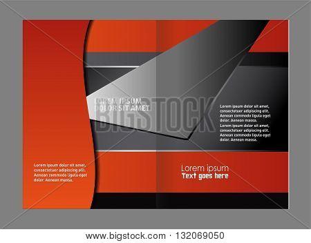 template for advertising brochure. Vector empty bifold brochure print template design
