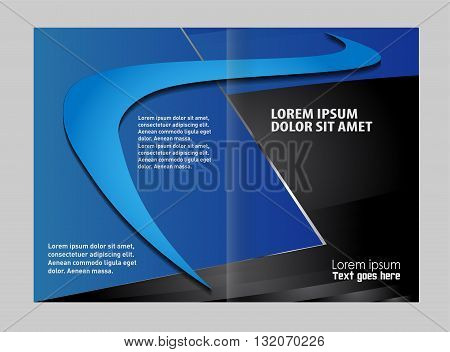Brochure template design. Colorful Bi-Fold Brochure Design. Corporate Leaflet, Cover Template