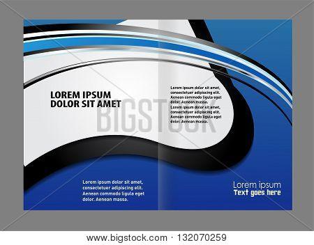 Corporate business brochure design. Vector empty bi-fold brochure print template
