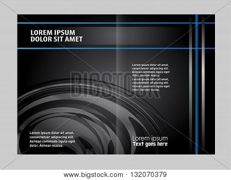 Corporate bi Fold Brochure vector illustration abstract