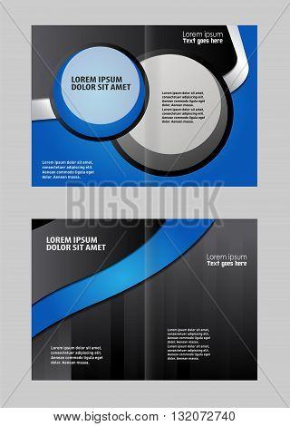 Professional business brochure design. Professional business flyer template or corporate brochure design