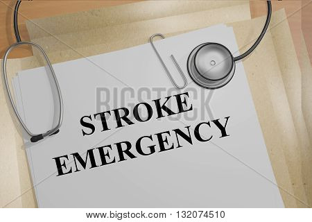 Stroke Emergency Medical Concept
