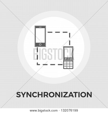 Phone sync icon vector. Flat icon isolated on the white background. Editable EPS file. Vector illustration.