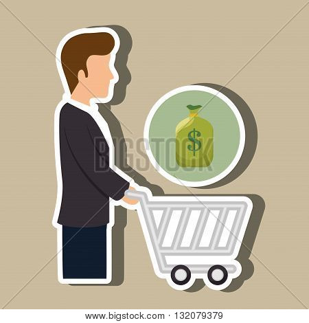 avatar buyer design, vector illustration eps10 graphic