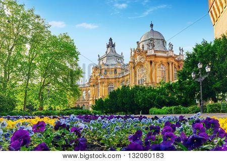 Vajdahunyad Castle (hungarian-vajdahunyad Vara) Is A Castle In The City Park Of Budapest, Hungary.