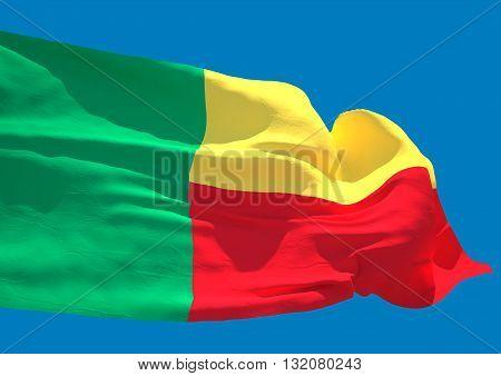 Benin wave flag HD Republic of Benin
