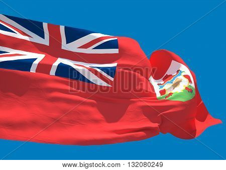 Bermuda wave flag HD British Overseas Territory