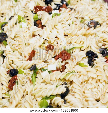 Pasta Salad In Close Up