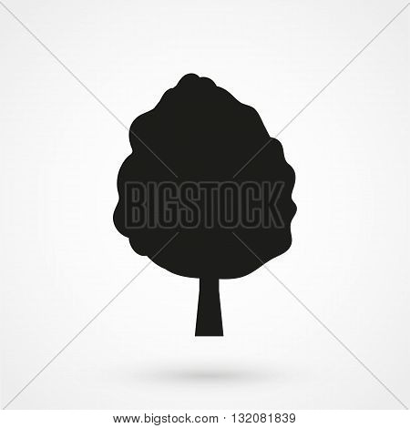 Tree Icon Vector Black On White Background
