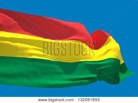 Bolivia wave flag HD Plurinational State of Bolivia